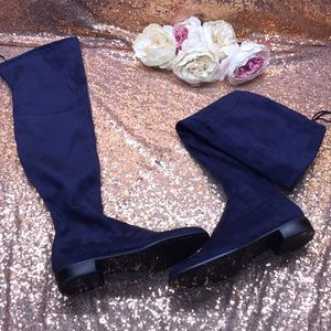 Marc Fisher Blue Over the Knee Boots